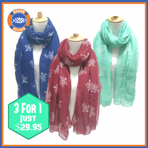 Turtle Rescue Scarves - 3 For 1