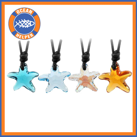 Crystal Starfish Necklaces