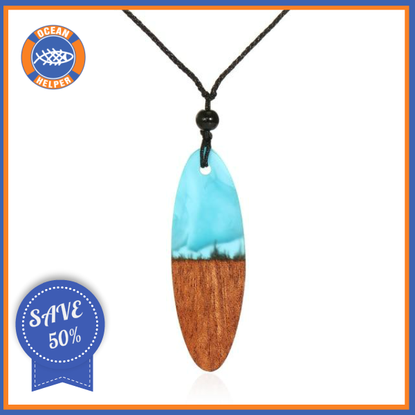 Enchanted Ocean Surfboard Necklace