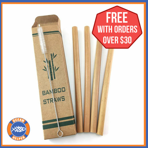 Bamboo Straws - Pack of 4 - Free Promo