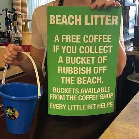 Free Coffee For A Bucket Of Beach Litter
