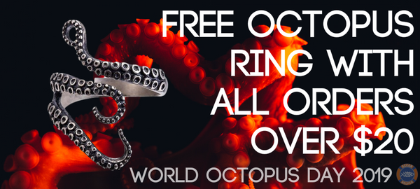 Free Octopus Ring with all orders over $20