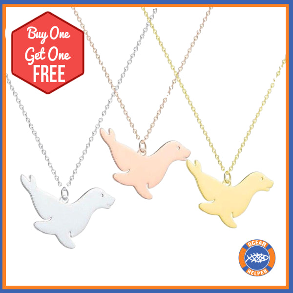 Buy One Get One Free Seal Supporter Necklace