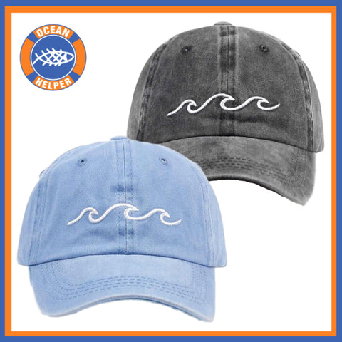 Ocean Wave Baseball Caps