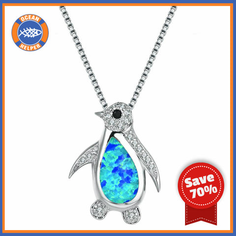 Opal Ocean Penguin Necklace Offer