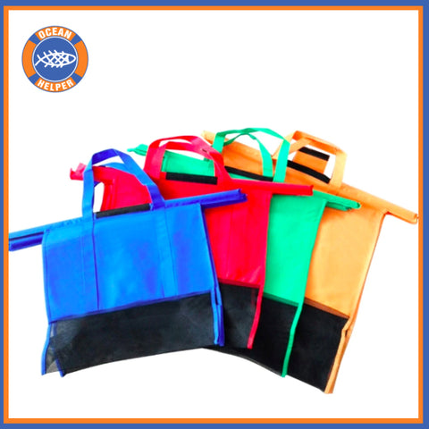 Reusable Supermarket Shopping Bags - Pack of 4