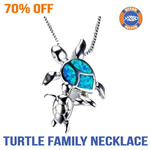 Sea Turtle Family Necklace (70% Off)