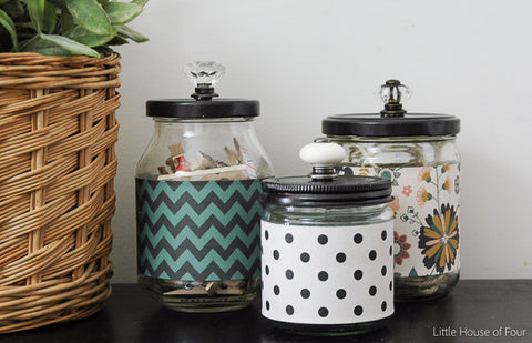 Recycled Glass Jars - Little House of Four