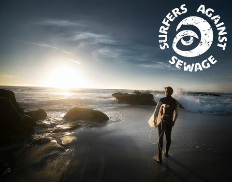 Surfer On A Beach with SAS logo
