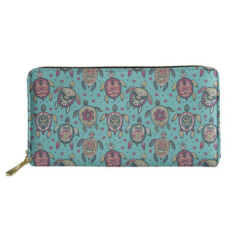 Ladies Teal Tropical Sea Turtle Purse