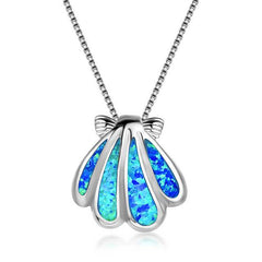 Opal Ocean Sea Shell Necklace