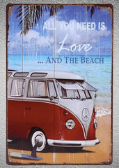 Image of All You Need Is The Beach Tin Sign