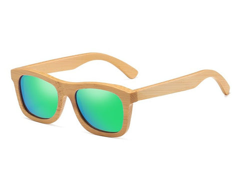 Bamboo Sunglasses - Green Lenses