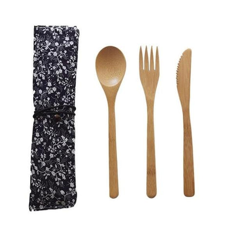 Bamboo Pocket Cutlery - OceanHelper