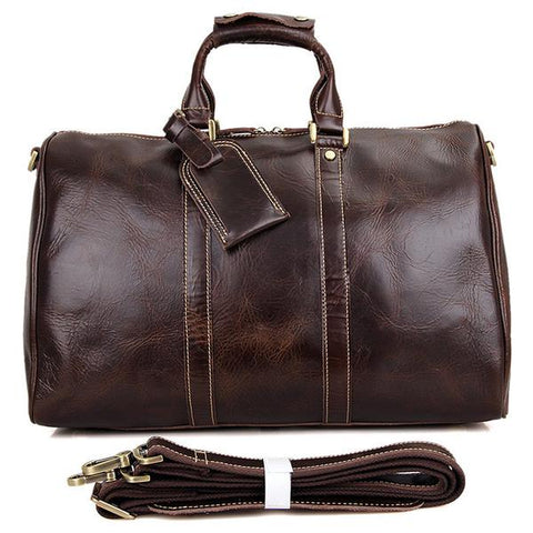 Berchirly Luxury Vintage Italian Leather Weekend Bag - OceanHelper