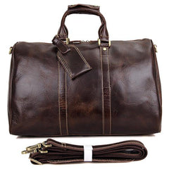 Berchirly Luxury Vintage Italian Leather Weekend Bag