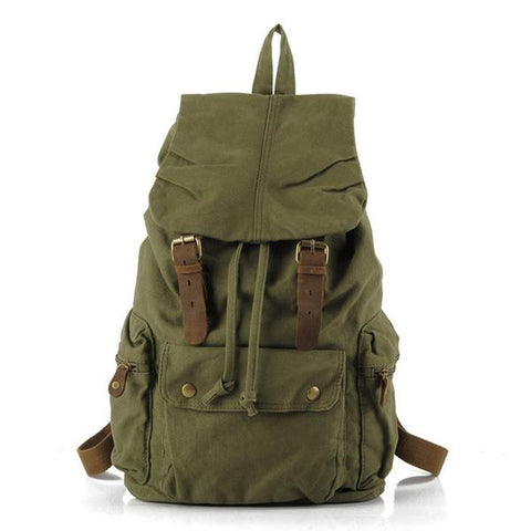 Berchirly Vintage Canvas & Leather Rucksack - OceanHelper
