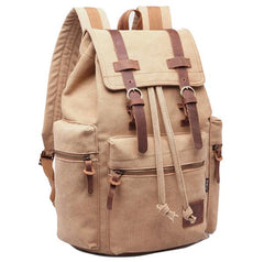 Berchirly Vintage Style Canvas & Leather Backpack