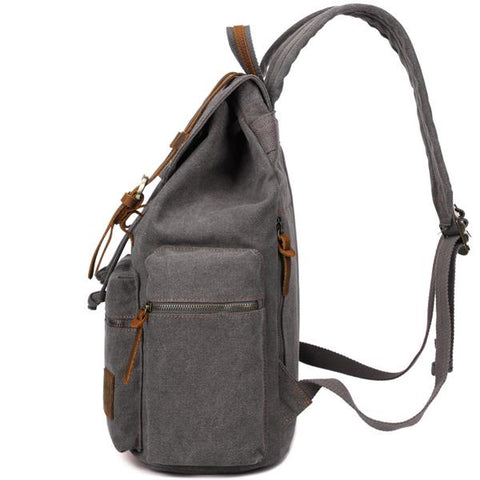 Berchirly Vintage Style Canvas & Leather Backpack - OceanHelper