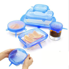 Reusable 6pcs Stretch Silicone Lids