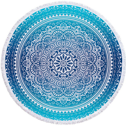 Blue Bohemian Beach Towel