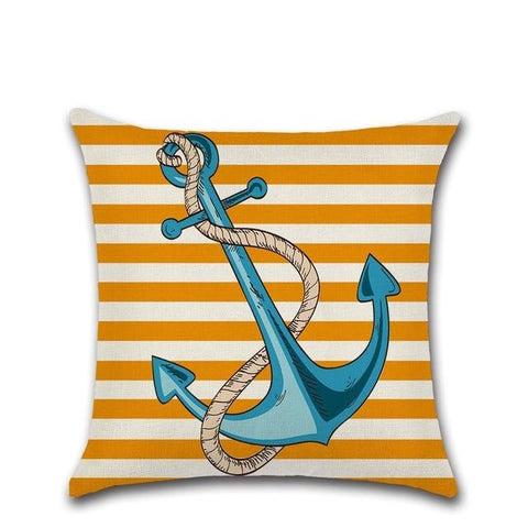 Bold Print Nautical Cushion Covers