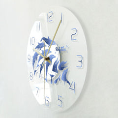 Dolphin Stampede Wall Clock