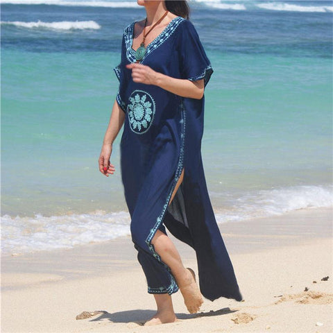 Embroidery Summers Day Beach Cover Up