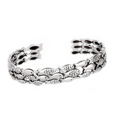 Sterling Silver Fish Bangle
