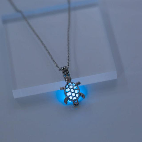 Glow In The Dark Sea Turtle Hatchling Necklace