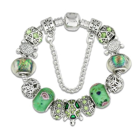 Green Sea Turtle Charm Bracelet - OceanHelper