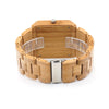 Image of Luxury Rectangle Bamboo Men's Watch