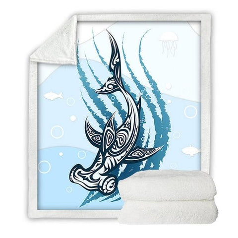 Hammerhead Shark Luxuriously Soft Blankets - OceanHelper