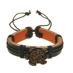 Hand Carved Sea Turtle Bracelet & Necklace Set - Brown