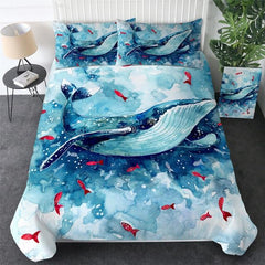 Humpback Whale Watercolour Bedding Set