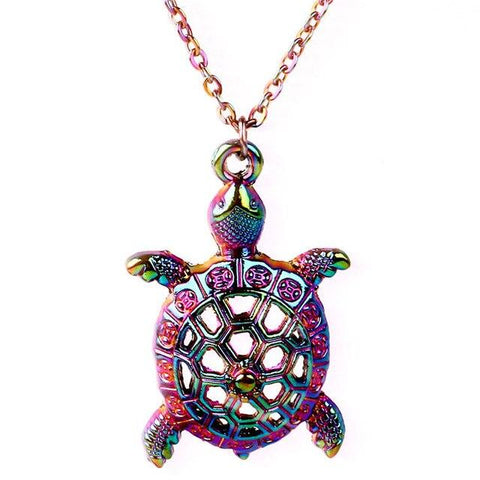 Iridescent Sea Turtle Necklace