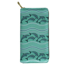 Luxury Leather Green Dolphin Purse - OceanHelper