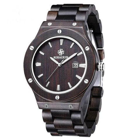 Mens Natural Dark Sandalwood Watch - OceanHelper