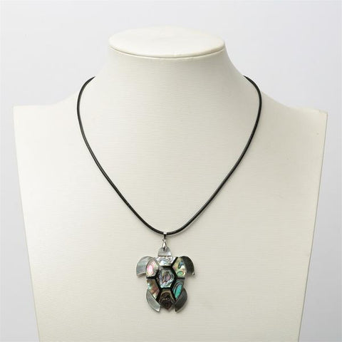 Natural Abalone Shell Turtle Necklace - OceanHelper