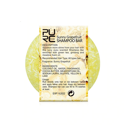Natural Sunny Grapefruit Shampoo Bar