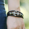 Image of Nautical Leather Anchor Bracelet - OceanHelper