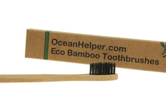 Bamboo Eco Toothbrushes Infused with Charcoal (Jumbo Pack 12)