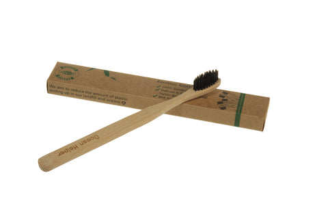 Bamboo Eco Toothbrushes Infused with Charcoal (Jumbo Pack 12) - OceanHelper