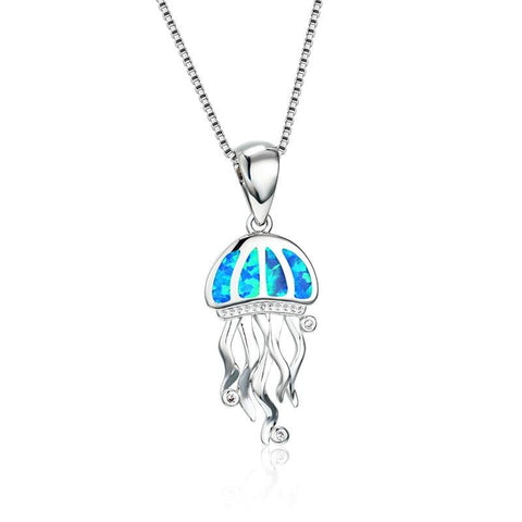 Opal Ocean Jellyfish Necklace