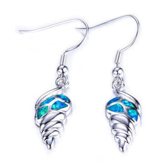 Opal Ocean Conch Shell Drop Earrings - OceanHelper