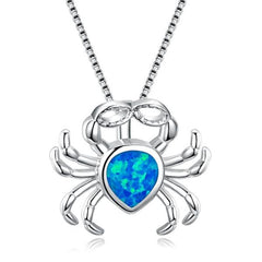Opal Ocean Crab Necklace - OceanHelper