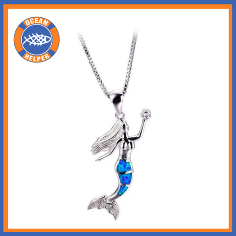 Opal Ocean Mermaid Necklace Offer