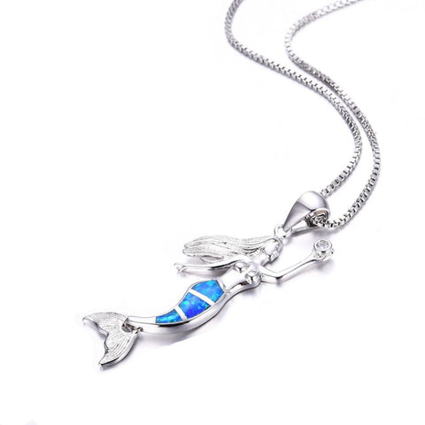 Opal Ocean Mermaid Necklace - OceanHelper
