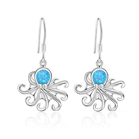 Opal Ocean Octopus Drop Earrings - OceanHelper