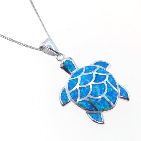 Opal Ocean Turtle Pendant Necklace - OceanHelper